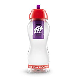 Fit Bottle Premium Sport Water Filter Bottle, 20 Oz (Mint/Red)