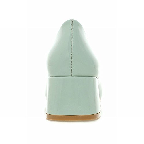 Pied De Charme Femmes Orteils Carrés Talons Chunky Chaussures Chaussures Vert