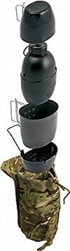 BCB Crusader Sistema de cocción multicombustible y Botella de Agua, Unisex Adulto, Negro