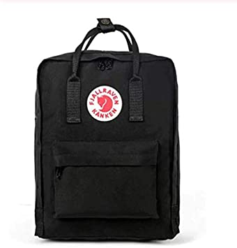 Backpack Fjallraven - Mochila, diseño de Zorro Sueco de Moda (20 L, Impermeable), Color Negro