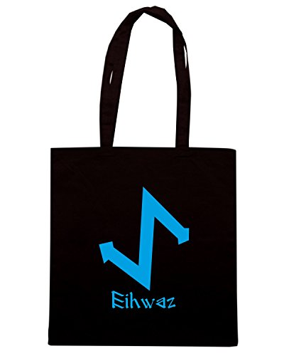 T-Shirtshock - Bolsa para la compra T0293 EIHWAZ religioni celtic Negro