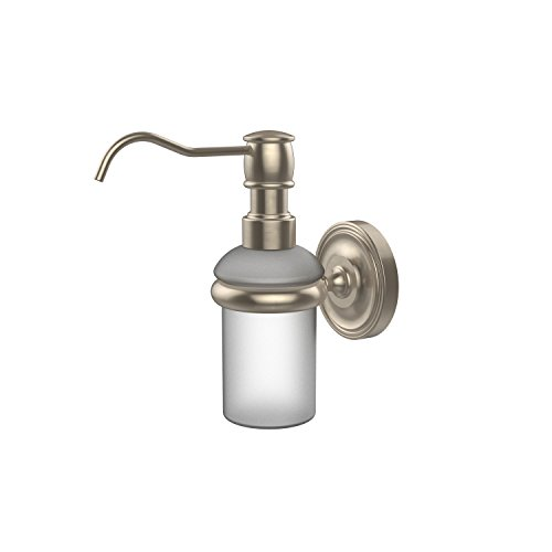 Allied Brass PR-60-PEW Prestige Regal Collection Wall Mounted Soap Dispenser, Antique Pewter ()