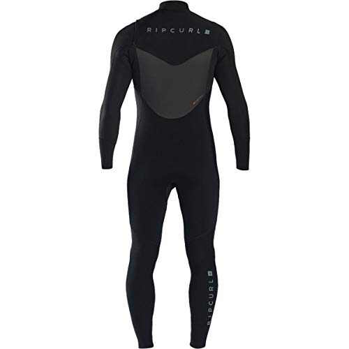 Rip Curl Dawn Patrol Chest Zip 4/3 Wetsuit, Black, Small/Tall by Rip Curl (Image #1)
