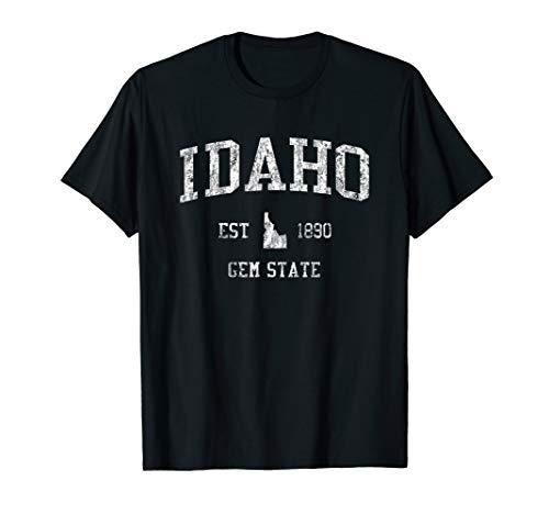 - Idaho T-Shirt Vintage Sports Design Idahoan Tee