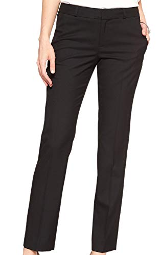 Banana Republic Women's Ryan Slim Fit Classic Slim Straight Pants Black -