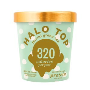 Halo Top Ice Cream Pint, Mochi Green Tea, 16 oz. (8 count)