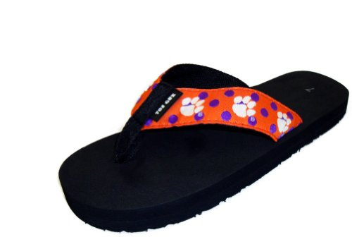359ae676bf4d Toegoz Women s Clemson University Polka Dot Flip Flops - Buy Online in UAE.
