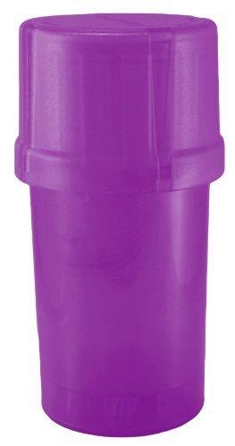 MedTainer Storage Container w// Built-In Grinder Purple