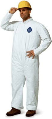 Collared Tyvek(R), White, Open, 2XL, PK 25