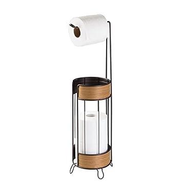 Erstaunlich MDesign Toilettenpapierhalter   Schicker, Freistehender Klopapierhalter    Der Ideale Papierrollenhalter   Farbe: Bronze,