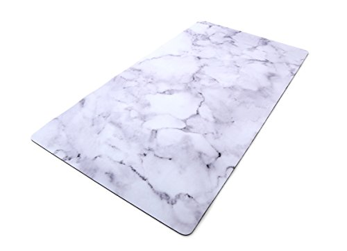 (Imagine Printed Surface Non-Slip Multi Purpose Desk Pad, Photo background 31.5x17 inch (Marble) (Marble))