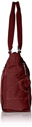 New S Red Shopper Kipling Brick Tote Black FUTaxc1qw