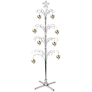 Amazon.com: HOHIYA Metal Christmas Ornament Display Tree Rotating ...