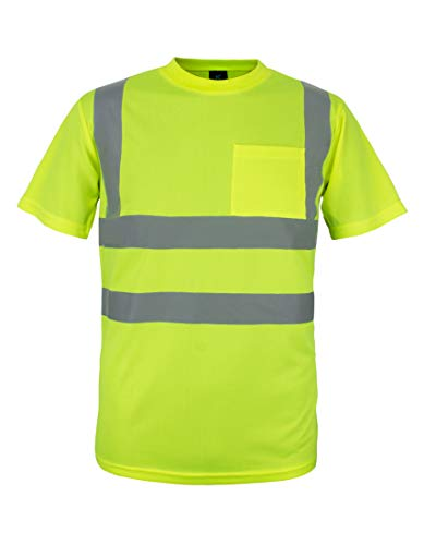 Kolossus 100% Polyester ANSI Class 2 Compliant High Visibility Short Sleeve Safety Shirt (L)