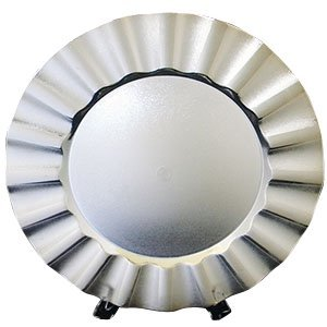 Gala Home Silver Charger Plates with Large Wave Design, 13 inch, set of 6