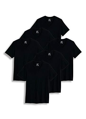 Jockey Men's T-Shirts Big & Tall Classic V-Neck T-Shirt - 6 Pack, Black, 3XLT