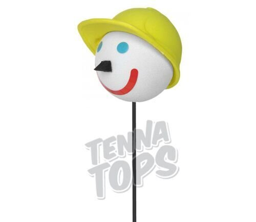 Jack in the Box - Construction Worker Car Antenna Topper + Yellow Smiley Antenna Ball Tenna Tops®