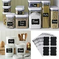 Chalkboard labels for kitchen, craft and/or office organizing - Set of 72 (Craft Organizing)