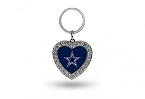 Rico NFL Dallas Cowboys Rhinestone Heart Keychain