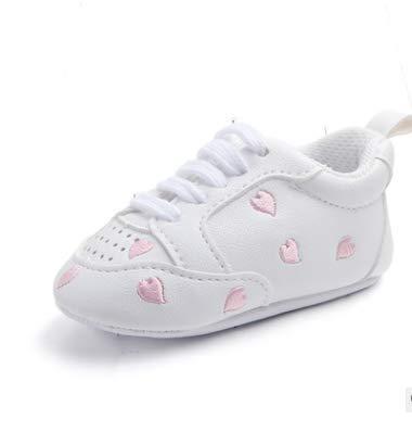KINGDUO Sport Rouge Coeur Cinq-Étoile Chaussures Bébé Chaussures Tout-Petits Soft Bottom Ondelettes Chaussures Blanc-C 11