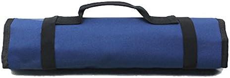 PIXNOR Estuche porta herramientas Enrollable (Azul): Amazon.es: Bricolaje y herramientas