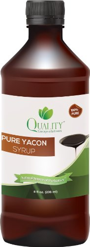 Yacon Syrup - 100% Pure Raw Yacon Syrup, 8 fl oz
