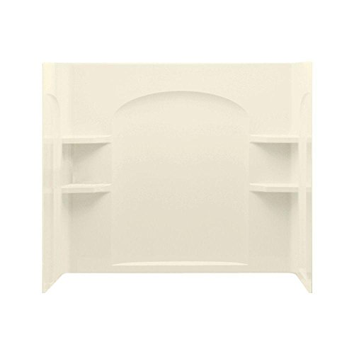 STERLING 71224100-96 Ensemble 33-1/4-Inch x 60-Inch x 54-Inch  Direct-to-Stud Curve Tub / Shower Wall Set in Biscuit , 3-Piece