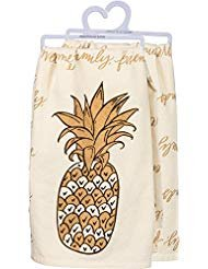 Primitives by Kathy 100% Cotton Pineapple Dish Towel 28