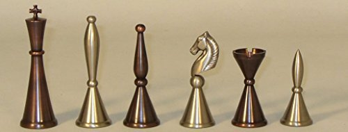 Solid Brass Art Deco Chess Pieces ()