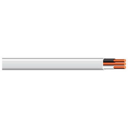 Ground Sheathed Cable - Cerrowire 147-1402BR 50-Feet 14/2 NM-B Solid with Ground Wire, White