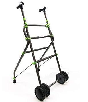 OrtoPrime Andador para Ancianos con Ruedas | Aluminio | Plegable | Regulable en Altura | Empuñadura ergonómica | Peso Máximo Soportado 100 Kg Diseño ...
