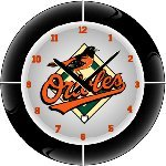 Baltimore Orioles MLB Team Neon Everbright Wall Clock