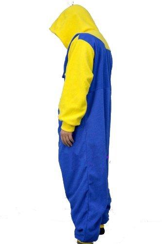 De Vellón con forro Polar de GRU MI VILLANO FAVORITO amarillo y azul enterizo Cosplay sudadera Unisex de minion de traje de baño/pijama/apagado Wear, polar, yellow and blue, XL(180-190 CM) yellow and blue