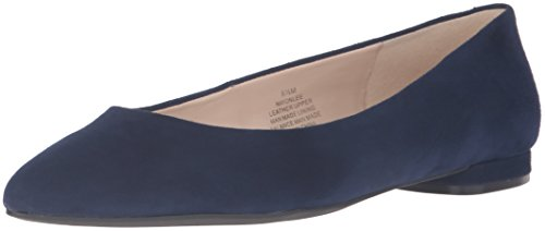 Negen West-womens Onlee Suede Ballet Platte Navy Kid