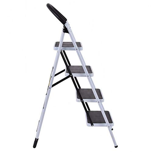 MY HOPE Ladder Fordable Heavy Duty Supported load 330 Lbs 4 Step Industrial Lightweight. by MY HOPE (Image #4)