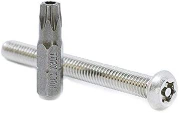 """Details about  /6-32 x 1//2/"""" Stainless Steel Tamper Proof Security Button Head Screw Hex Pin"""