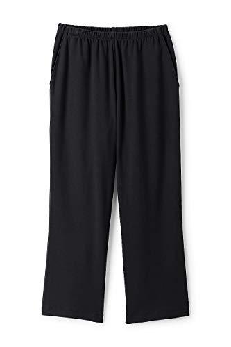 Wide Waist Crop Pant - Lands' End Women's Sport Knit Elastic Waist Pull On Crop Pants Black