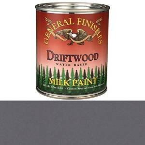 General Finishes PD Milk Paint, 1 pint, Driftwood - Glaze Wood Cabinets