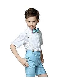 Gele Boy 4 Pieces Suspender Trousers Sets