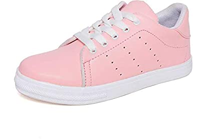 AlexaStar Shoes for Women Girls Casual Pink Canvas Stylish