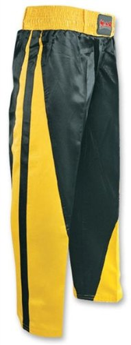 Full Contact Kickboxing//Karate Trousers Elasticated Drawstring Waistband Polycotton 8oz Fabric with Two Stripe Design M.A.R International Ltd