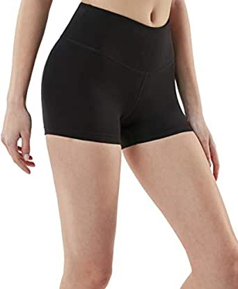 Tesla Women's Active Bike Running Yoga Shorts Side/Hidden Pocket Series FYS23-BLK