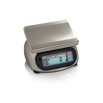 A&D Engineering SK-5000WP Stainless Steel Washdown Scale, NTEP Approved, 5,000g Capacity, 2.0g Increments