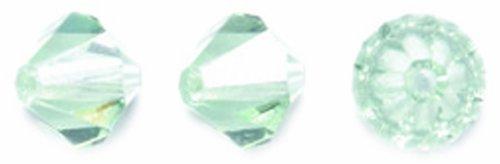 (Preciosa Czech Crystal Bicone Beads, 6 by 6mm, Chrysolite, 72-Pack )