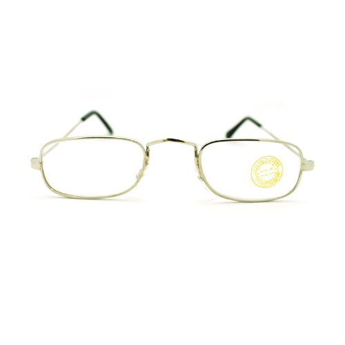 Classic Vintage Retro Extra Small Rectangular Wire Rim Optical Eye Glasses - Wire Glasses Small