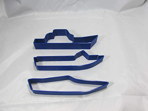 - Set of 3 Boat Shaped Cookie Cutters