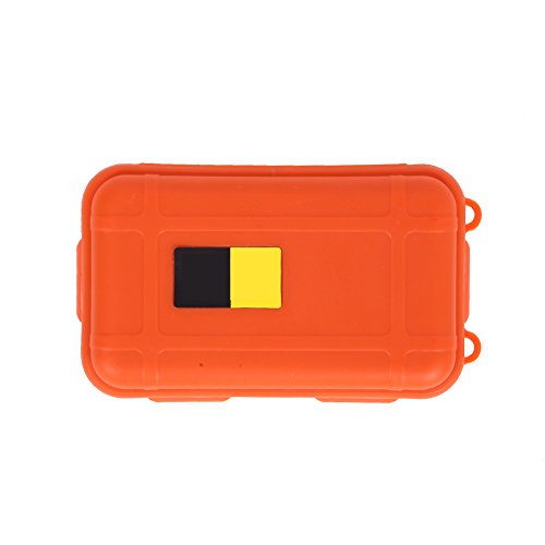 Easydeal Outdoor Shockproof Waterproof Airtight Survival Small Storage Container Carry Box (Orange) (Waterproof Small Container compare prices)