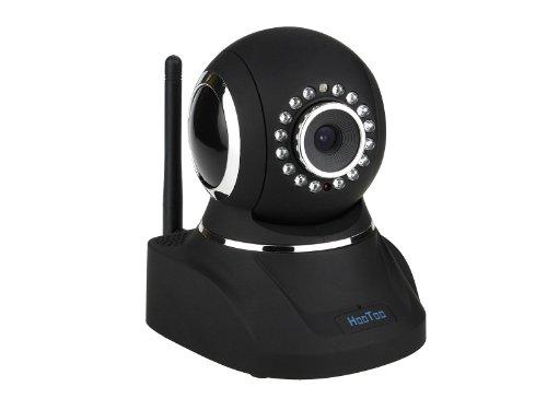 HooToo HT-IP210P Indoor Wired / Wireless Network IP Camera MJPEG CMOS with IR Cut Filter P2P US Version - Black Mjpeg Network Camera