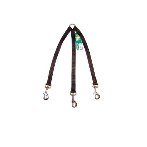 Guardian Gear 24-Inch Nylon 3-Way Large Dog Coupler with Nickel Plated Swivel Clip, Black, My Pet Supplies