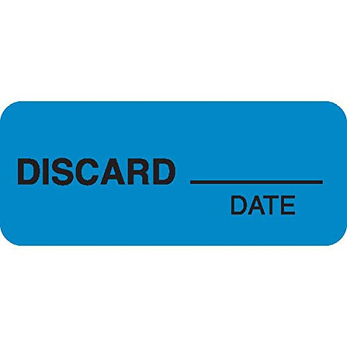 ''DISCARD___'' Blue Medical Label Black text 1.5'' x 0.625'' by CeilBlue (Image #1)